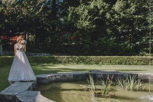 Braut in der Villa Boveri in Baden