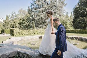 Brautpaar in der Villa Boveri in Baden