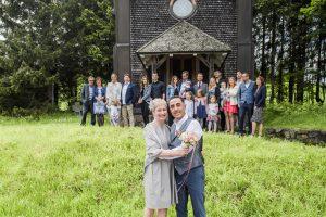 Gruppenbild auf der Hochzeit im Hotel Die Halde im Schwarzwald
