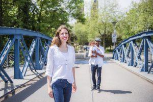 Familien Fotoshooting Blaue Brücke Freiburg