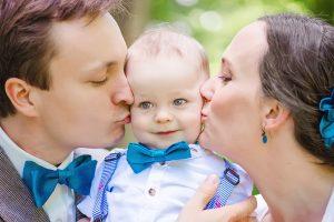 Hochzeit mit Kind