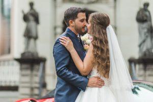 Brautpaarshooting vor der Kirsche