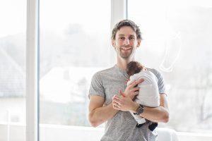 Kinderfotografie Baby und Papa