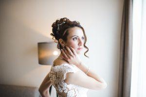 Hochzeitsportraits von der Braut