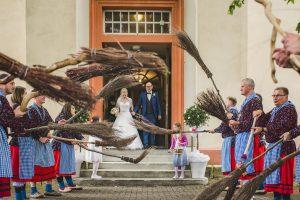 Kirchliche Hochzeitsfeier in Bollschweil